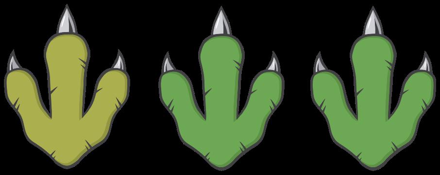 TENSTICKERS. 緑の恐竜の足跡ドラゴンウォールステッカー. 平らな面を飾るためのかわいい緑の恐竜の足跡のステッカー。絶滅した恐竜の愛好家のためのデザインとその適用は本当に簡単です。