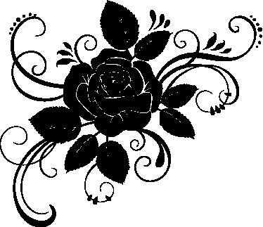 TenVinilo. Vinilo decorativo rosa detallada. Adhesivo de una rosa de la cual surgen lindas hojas y tallos ilustrados.