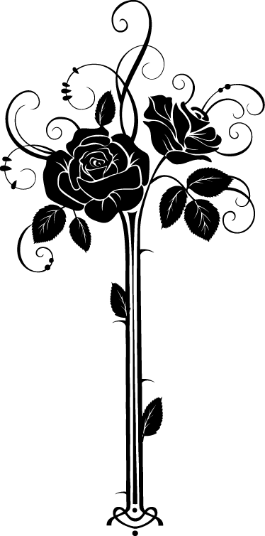 TenVinilo. Vinilo decorativo rosas art deco. Adhesivo de un ramillete de flores con aires vintage, para darle un aire elegante y natural a tu casa.