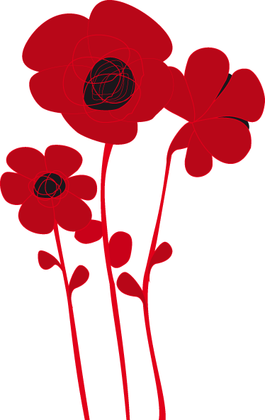 TenStickers. Poppy Wall Sticker. A design illustrating three red and black poppies from our fantastic collection of poppy wall stickers to decorate your living room! Add this to your wall at home and create a fantastic appearance and also give your favourite room at home an elegant appearance with this poppy decal.