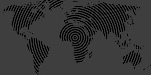 TenVinilo. Vinilo mapamundi textura concéntrica. Convierte el mundo en una diana que gira a través de un original vinilo decorativo de un mapa mundi.