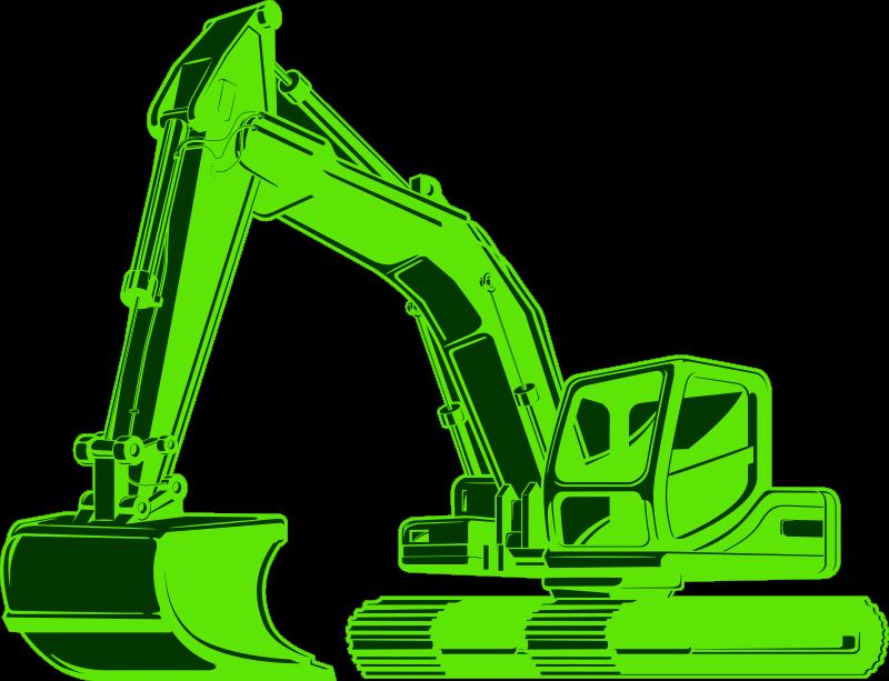 TENSTICKERS. 掘削機ミスターグリーンキッズ寝室ウォールステッカー. 子供の部屋を飾るのに適した緑の掘削機の実例となるデカール。耐久性があり、粘着性があり、簡単に塗布できます。