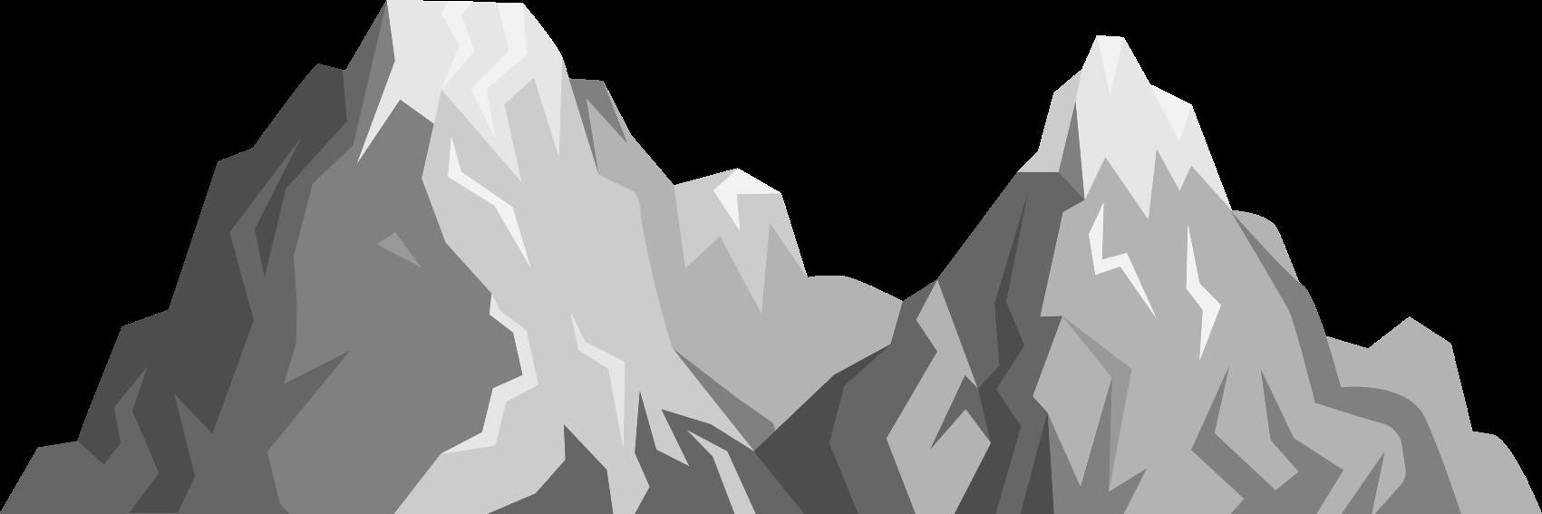 TENSTICKERS. 灰色の山の風景ステッカー. 雪に覆われた山々をイメージした美しいウォールステッカー。割引あり。