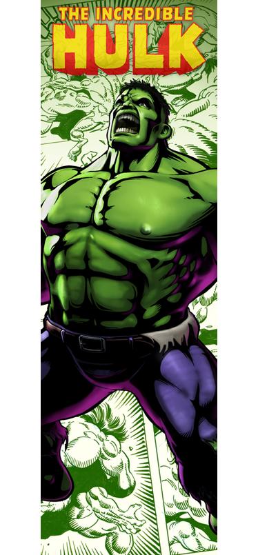 TenVinilo. Vinilo decorativo Hulk nevera. Adhesivo especial con un dibujo espectacular de La Masa en plena acción.