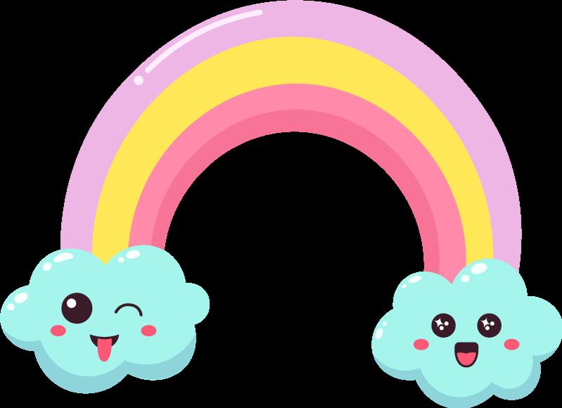 TENSTICKERS. 笑顔かわいい漫画虹雲ウォールステッカー. 寝室のためのかわいい漫画虹雲デカール装飾を笑顔。それはあなたの子供の部屋、保育園またはプレイルームに適用することができます。