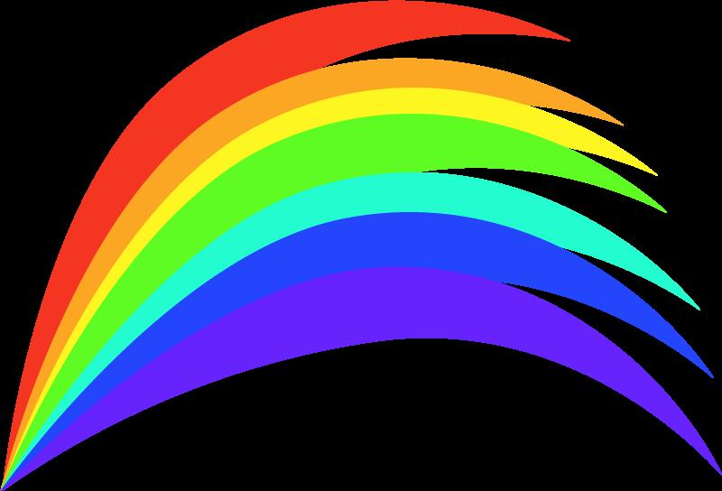TENSTICKERS. 漫画の虹のとがった漫画のウォールステッカー. 子供の寝室スペースに最適なカラフルな虹のイラストウォールステッカー。デザインは任意のサイズでカスタマイズ可能で、適用と取り外しが簡単です