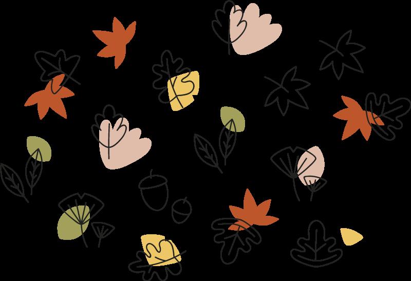 TENSTICKERS. パターン化された葉植物デカール. 子供の寝室や赤ちゃんの保育園に飾ることができる、かわいらしいカラフルなシダの観賞用植物デカール。