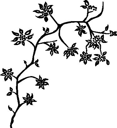 TenVinilo. Vinilo decorativo árbol florido. Adhesivo monocolor de una rama de árbol con flores. Vinilos vegetales ideales para la decoración de cualquier estancia.