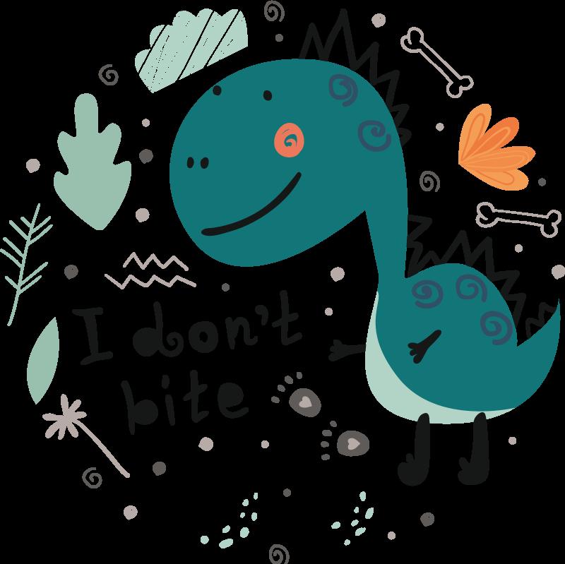 TENSTICKERS. 恐竜グリーン笑顔ドラゴンウォールステッカー. このクールなウォールステッカー恐竜の子供向け製品で、これまでに見た中で最も恐ろしい恐竜を子供に与えてみませんか?即購入!
