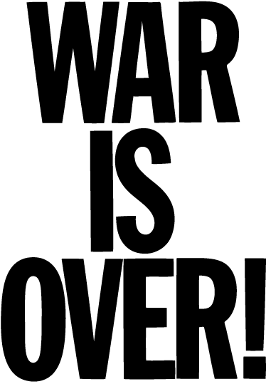 TenStickers. War is Over Wall Sticker. Lyrics wall sticker of the famous song by John Lennon and Yoko Ono, 'War is Over'. A great text decal for those big fans of John Lennon.