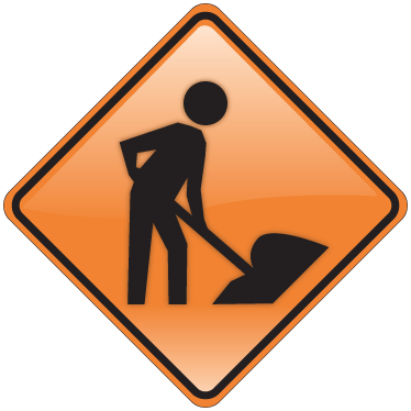 TenStickers. Men at Work Sign Sticker. A sign sticker that will warn everyone that there are men working in a specific area. An essential business sticker for when construction is taking place.