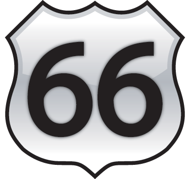 TenStickers. Route 66 Wall Sticker. A great sign wall sticker of the legendary American highway that went from coast to coast. Brilliant travel sticker to decorate your home!
