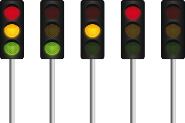 TenStickers. Road Traffic Lights Wall Sticker. The traffic lights decal is something that anyone whodrives will recognise well. It can be used as a children´s bedroom sticker for young ones to learn the important colours of the road!