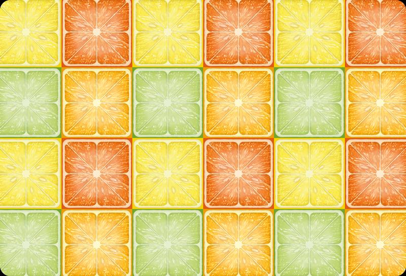 TenStickers. Autocolante decorativo para PC Textura cítrica colorida. Se você adora e gosta de comer frutas cítricas, você também adoraria decorar seu pc com este incrível vinil autocolante para PCcom padrão cítrico.