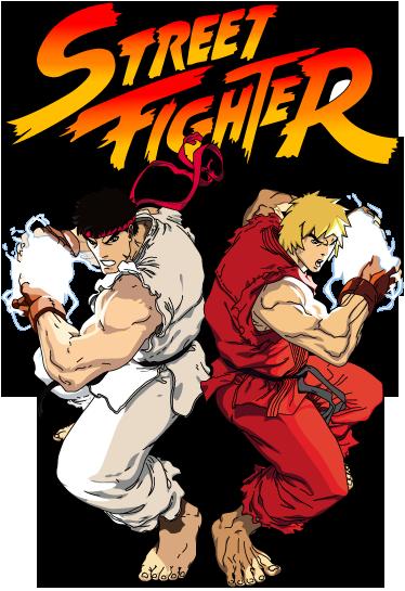 TenVinilo. Vinilo infantil cartel street fighter. Fantástico adhesivo de dos de los protagonistas de esta saga de videojuegos de lucha.