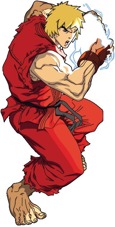 TenStickers. Sticker jeu Ken street fighter. Stickers illustrant un des personnages principaux du jeu vidéo Street Fighter. Idéal pour la décoration de la chambre d'enfant ou pour la personnalisation d'affaires personnelles.