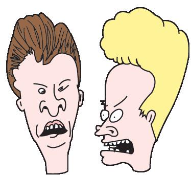 TenVinilo. Vinilo decorativo Beavis Butthead. Adhesivo de los dos personajes grunge que coparon las pantallas de los 90 a través de Mtv.