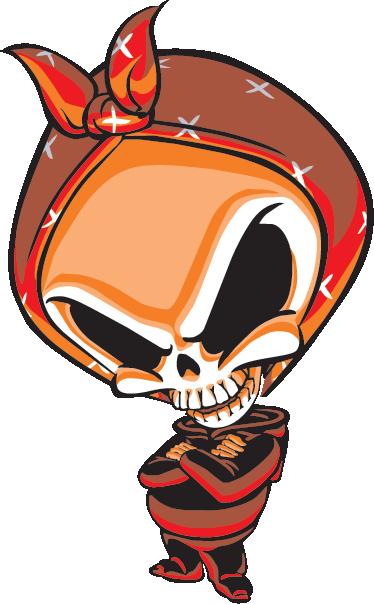 TenVinilo. Vinilo decorativo blind skate. Detallada ilustración en adhesivo del emblema de una marca de monopatines americana.