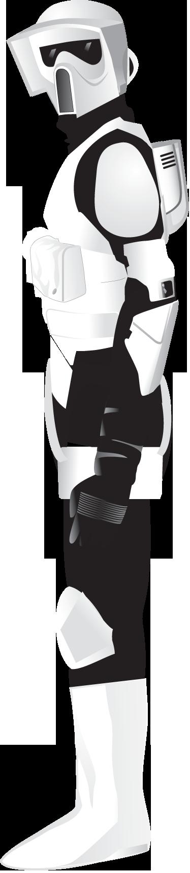 TenStickers. Sticker Star Wars Imperial Army trooper. Muursticker van een stormtrooper, een soldaat van the Imperial Army in de verhalen van Star Wars. Een mooie wandsticker voor de filmliefhebbers.
