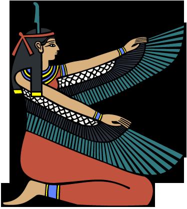 TenStickers. Egyptian Goddess Wall Sticker. A decorative wall sticker illustrating an Egyptian Goddess from ancient Egypt.
