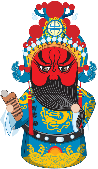 TenStickers. Red Face Devil Wall Sticker. Wall Stickers - Asian themed illustration. Ideal feature to add character and culture to any room. Available in various sizes.