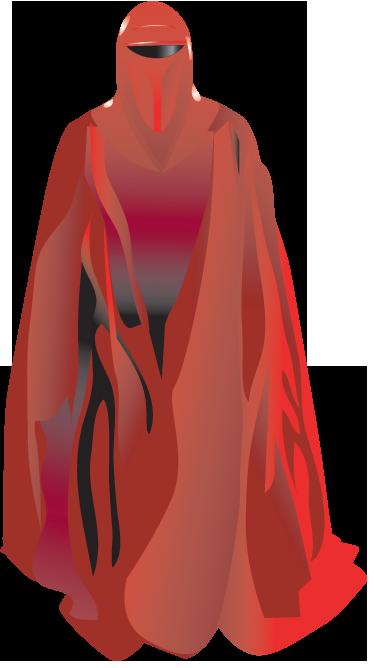 TenVinilo. Vinilo decorativo guardia roja. Adhesivo con uno de los integrantes del equipo de guardaespaldas del senador Palpatine de Star Wars.