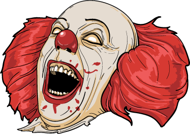 TenStickers. IT Clown cinema decal. If you're one of the ones that loved the movie IT, then you will love to have this cinema wall sticker of the IT's clown face!