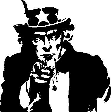 TenStickers. Uncle Sam Aufkleber. Wenn Sie auf der Suche nach einer besonderen Wandgestaltung sind, dann ist dieses Uncle Sam Wandtattoo genau das richtige für Sie.