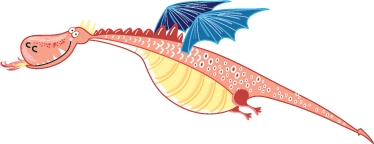 TenStickers. Blue Winged Dragon Wall Sticker. A curious dragon wall sticker illustrating this friendly pink creature that isn't scaring anyone. Brilliant fairy tale sticker for the little ones of a big smiling dragon flying through the air.