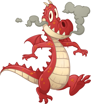 TenStickers. Red Dragon Kids Sticker. A creative dragon wall sticker illustrating this friendly red monster! This fairy tale decal is perfect for a child's bedroom. This high quality durable wall sticker is available in a wide variety of sizes and leaves no residue upon removal.