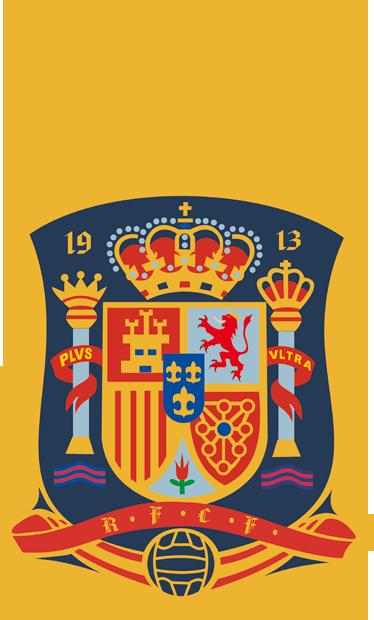 TenVinilo. Vinilo escudo de la RFEF. Pegatina del escudo de la Selección Española de Fútbol, campeona del mundo y doble campeona de Europa.