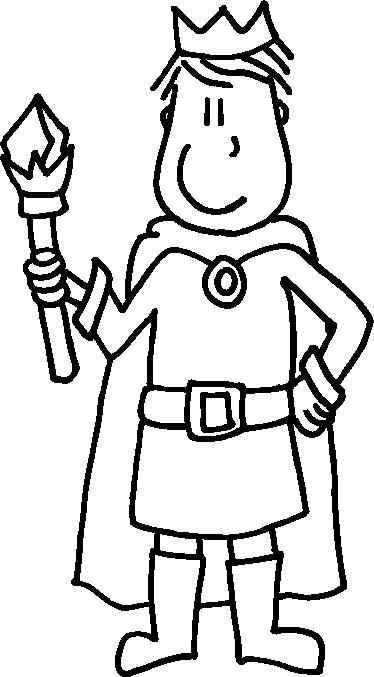 TenStickers. Adesivo cameretta il re della casa. Sticker decorativo che raffigura un giovane sovrano con il suo scettro del potere in mano. Una simpatica decorazione per la cameretta dei bambini.