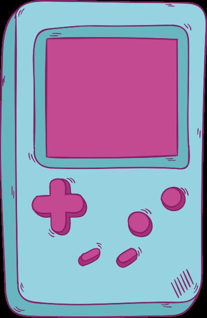 TenStickers. Skin para nintendo Gameboy retro azul nintendo. autocolante nintendo com ilustração de um nintendo retro na cor azul ideal para você decorar o quarto do seu filho, sala de jogos ou qualquer superfície.