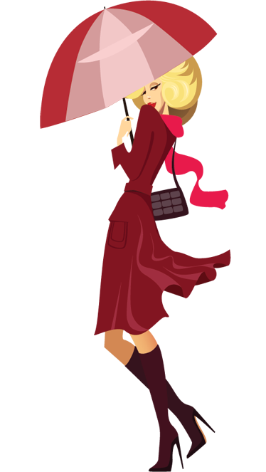 TenStickers. Lady with Umbrella Wall Sticker. A fashion wall sticker illustrating an elegant woman with high heels going on her way to the shop!