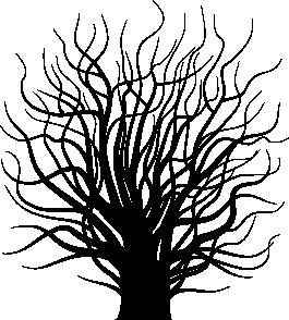 TENSTICKERS. 葉のない木の壁のステッカー. ウォールステッカー-家を飾るのに最適な特徴的な花柄。さまざまな色とサイズで利用できる不気味なインスピレーションを受けたツリー。
