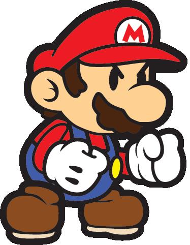 TenStickers. Sticker Super Mario faché. Stickers représentant Mario prêt à vaincre l'ennemi !Utilisez ce stickers pour personnaliser des objets ou les murs de la chambre d'enfant.