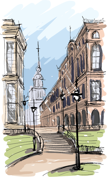 TenStickers. Watercolour Park Wall Art Sticker. This beautiful decorative decal of a city park painting is wonderful to decorate your home.