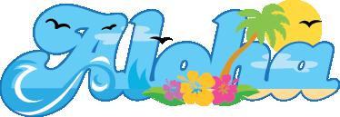 TenStickers. Aloha duvar sticker. Hepimizin bildiği ünlü cümle ile harika bir metin duvar sticker, aloha! Misafirlerinizi ağırlamak için renkli bir etiket.