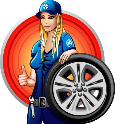 TenStickers. Mechanic Woman Sticker. A great mechanic wall sticker illustrating this young woman wearing her blue uniform ready for work.