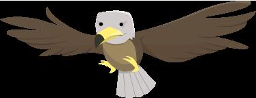 TenStickers. Sticker kinderkamer tekening arend. Muursticker van een prachtige adelaar dat in de lucht zweeft met zijn vleugels gespreid. Een zeer mooie wandsticker voor decoratie.