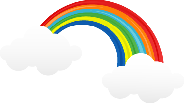 TenStickers. Rainbow with Clouds Kids Sticker. Add a touch of light and colour to your children's walls with this decal from our collection of rainbow wall stickers.