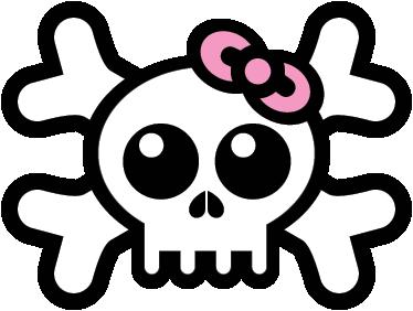 TenStickers. череп с наклейкой для наклеек для волос. большой стикер стены черепа, иллюстрирующий мультяшный дизайн черепа с розовым бантом для волос для спальни девушки. отличная детская наклейка, чтобы украсить эти пустые места в их комнате веселым дизайном, который удивит всех.