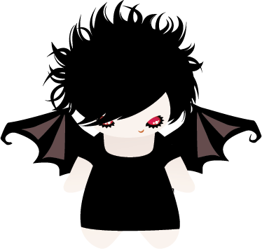 TenStickers. Female Bat Kids Sticker. A monster wall sticker illustrating a gothic female bat. Great halloween decal to decorate your children's bedroom or play area.