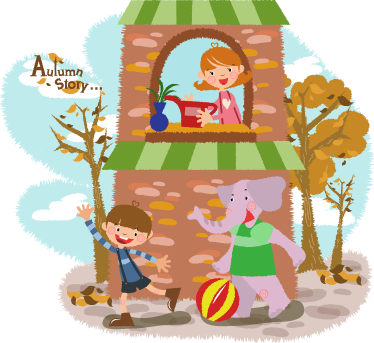 TenStickers. Kids Autumn Cartoon Wall Sticker. Turn your home into an autumnal wonderland with this beautiful autumn cartoon kids wall sticker. Free Worldwide delivery available!