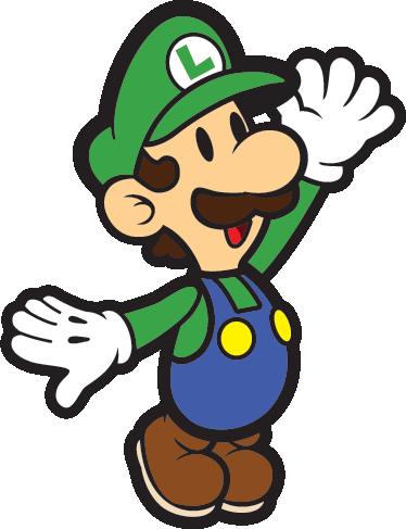 TenStickers. Sticker décoratif Luigi. Sticker mural du frère de Mario : Luigi. À tous les amoureux du célèbre jeu de plateforme, ce sticker est fait pour vous !