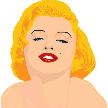 TenVinilo. Vinilo decorativo Marilyn Monroe sensual. Ilustración adhesiva de esta fantástica actriz estadounidense.
