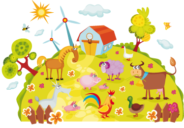 TenStickers. Kids Farm Planet Wall Sticker. Great animal wall sticker illustrating a colourful farm with various animals. Ideal farm themed wall decal to decorate the bedroom or nursery of the little ones. This wall sticker is super easy to apply and leaves no residue upon removal.