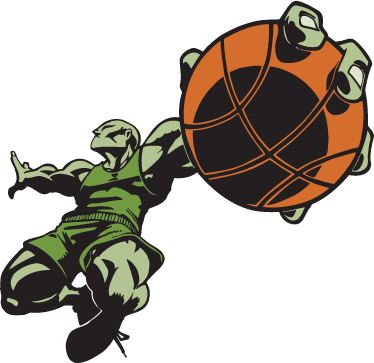 TenStickers. Super Basketball Player Decorative Sticker. Spectacular sticker of a basketball player in green about to score! Perfect for those that love or play basketball!