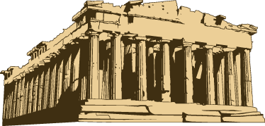 TenStickers. Parthenon Temple Decorative Decal. Customise your home with this fantastic wall sticker of the Parthenon.