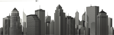 TenStickers. City Skyline Wall Sticker. A superb skyline decal of the city illustrating many modern buildings! Give your office a new look with this modern wall sticker.